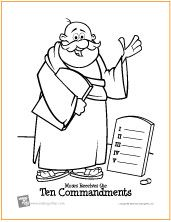 Bible coloring pages (the 10 commandments)