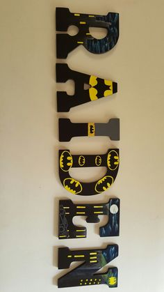 Wooden Batman Letters