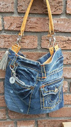 Denim Tote Bags, Denim Purse, Ralph Lauren Bags, Denim Crafts, Recycled Denim, Denim And Lace, Purses And Bags, Projects, Fashion