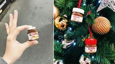 Cute animals being cute Nutella Jar, Pranks, Best Funny Pictures, Jars, Target, Cute Animals, Christmas Ornaments, Holiday Decor, Mini