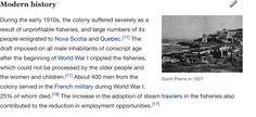 St Pierre And Miquelon, Modern History, Nova Scotia, Quebec, World War, Quebec City, Contemporary History
