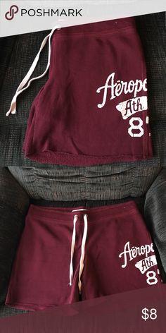 Aeropostale Sweatpants shorts Burgundy shorts with strings Aeropostale Shorts