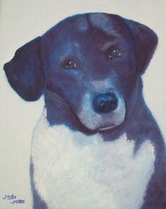 Fabulous artwork by Judy Jones #painting   #animals   #dogs