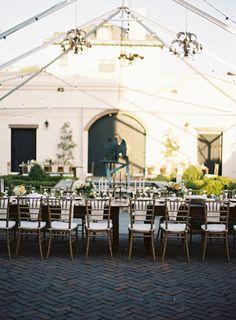 Vintage Savannah Elegance Wedding ~ Southern Vintage rentals brass goblets