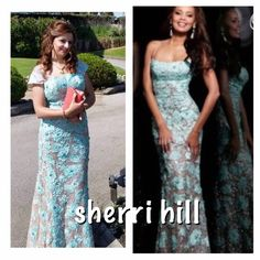 Sherri hill dress Worn once . Gorgeous chic dress it's just WOOOW call it red carpet . I add sleeve to the dress Sherri Hill Dresses