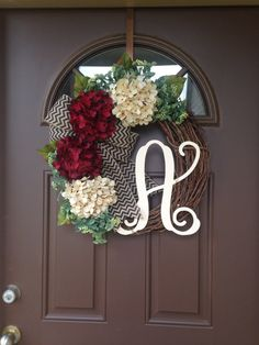 Captivating Monogram Year Round Wreath   Front Door Wreath   Monogrammed Wreath   All  Season Wreath   Everyday Wreath  Initial Wreath  Rustic Wreath | Year Round  Wreath ...