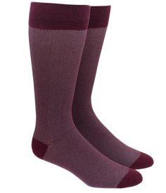 HERRINGBONE - BURGUNDY Burgundy Tie, Burgundy Dress, Groomsmen Accessories, Men's Accessories, Navy Groom, Calf Socks, Men's Socks, Men's Dress Socks, Sock Tie