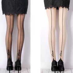 8f6270399c62e 1 Pair Female Sexy Stockings Pantyhose English Love Letter Tattoo Jacquard  For Woman Girl