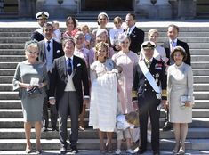 08/06-2018 the daughter of Princess Madeleine and Christopher O'Neill, Princess Adrienne was baptised at Drottningholm Castle Church in Stockholm.