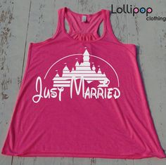 Just Married . Bride Tank. Future Mrs. Bridesmaid tank. wedding. Bride shirt. Bachelorette party. Disney. Funny top. Fairy tail wedding
