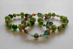 Hey, I found this really awesome Etsy listing at https://www.etsy.com/listing/218566995/grass-green-glass-beaded-bracelet
