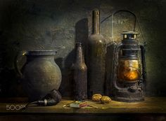 Still life. by Mostapha Merab Samii on Still Life Photos, Still Life Art, Still Life Photography, Art Photography, Image Mix, Painting Techniques, Impressionism, Painting Inspiration, Light In The Dark