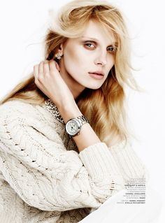 Olga Sherer Shimmers in Vogue Russias January Issue by Emma Tempest