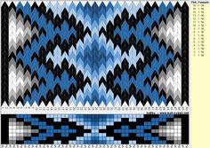 Vev-brikker med 8 hull. Tablet weaving, 8 hole pattern