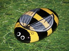 bee rocks painting - Google Search