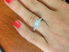 my Vera Wang engagement ring, makes me smile very time I look down at it <3