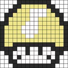 Melody Mushroom Perler Bead Pattern / Bead Sprite