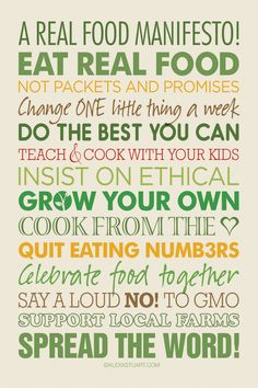 Some great thoughts on being real with food