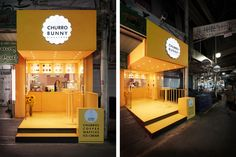 디자인엠포 | design M4 | 인테리어 디자인 Kiosk Design, Booth Design, Store Design, Food Stall Design, Food Court Design, Coffee Shop Bar, Coffee Shop Design, Shop Front Design, Small Cafe Design