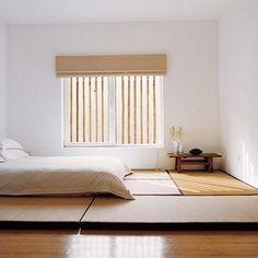 和室にベッドが置きたい!畳の部屋に似合うモダンな寝室の作り方 ... マットだけ!