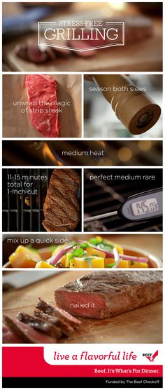 Take the stress out of your cookout. In just a few simple steps, you can grill a delicious steak for your family to enjoy this summer.