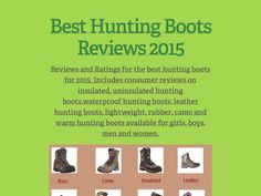 Best Hunting Boots Reviews 2015