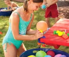 It's starting to get super hot outside. Help your friends cool off with a water balloon to the face. This water balloon factory lets you make a bunch of water balloons quickly and easily for the water balloon fight of your life. It connects to your garden hose and can clamp right to a table.