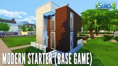THE SIMS 4 SPEED BUILD #125 - MODERN STARTER BASE GAME