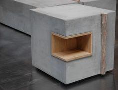 lolasambitions:  Concrete + Driftwood.