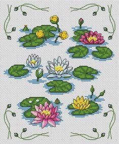 Water lilies free pattern