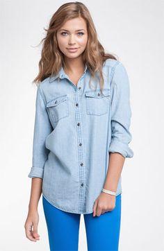 Rubbish® Chambray Shirt (Juniors)   #Nordstrom
