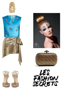 """Les fashion secrets"" by zabead ❤ liked on Polyvore featuring Yves Saint Laurent, Christian Louboutin, Bottega Veneta, Maison Rabih Kayrouz and Loree Rodkin"