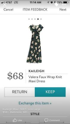 1440de76953c Love this maxi dress. Great color and pattern and I love the flutter  sleeves Stitch · Stitch Fix MaxiStitch Fix OutfitsMaxi Wrap DressKnit ...