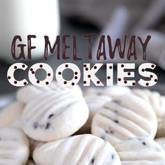 These delicate gluten free meltaway cookies are a cross between a butter cookie and shortbread, and really do melt in your mouth. Make them as drop cookies or roll them out and cut out shapes. Gluten Free Sweets, Gluten Free Cooking, Dairy Free Recipes, Gluten Free Party Food, Free Food, Cooking Recipes, Rolled Sugar Cookies, Drop Cookies, Gluten Free Christmas Cookies