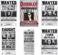 Harry Potter Wanted Poster Bundle