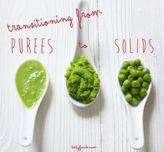 Some tips and tricks to help transition your baby from purees to solids. babyfoode.com