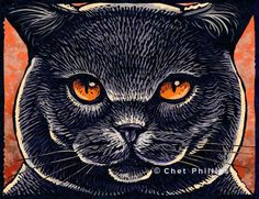 "Russian Blue Cat- 8"" x 10""- Cat Art Print- Cat Wall Decor- Cat Wall Art- Cat Print- Cat Gift by ChetArt on Etsy https://www.etsy.com/listing/11690605/russian-blue-cat-8-x-10-cat-art-print"