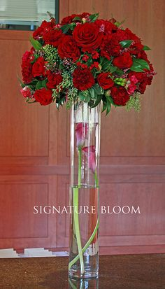 red wedding floral  | Palo Alto Wedding Flowers, Red Flower Centerpieces | Flickr - Photo ...