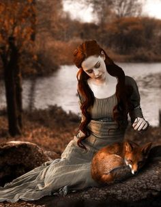 girl with fox weirdly compelling. maybe it;s the shared red? So...what exactly DID the fox say?! :)