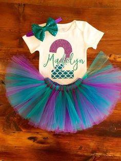 93331e37 Mermaid First Birthday Outfit | Under the Sea First Birthday | kelly ...