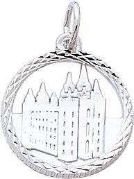 I would love -  Rembrandt Charms Mormon Temple Charm, Sterling Silver    #LDSproducts #MormonProducts #CTR