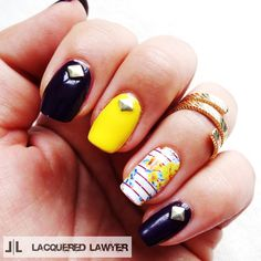 Lacquered Lawyer | Nail Art Blog: Flirty Flair - Jamberry Creation 1