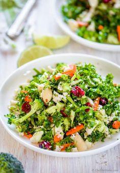 Paleo Broccoli and Cauliflower Detox Salad | chefdehome.com