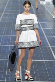 Chanel Spring/Summer 2013|37!!! Bebe'!!! Grey and White Chanel!!!