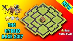 New Farming/Trophy/Hybrid Base Clash Of Clans New Hybrid Base. Trophy Base, Clash Royale, Town Hall, Clash Of Clans, Playlists, Cool Designs, Watch, Videos, Youtube