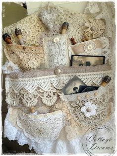 Gorgeous!  Lace hanging organizer