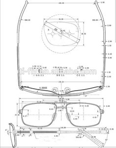 glasses technical drawings google search glasses. Black Bedroom Furniture Sets. Home Design Ideas