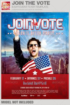 Stand Up For The City Political Flyer Template  Flyer Template