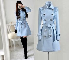 Made to order cashmere jacket coat dress Teen Fashion Outfits, Mode Outfits, Girl Fashion, Fashion Dresses, Fashion Design, Fashion Coat, Asian Fashion, Winter Fashion Boots, Classy Fashion