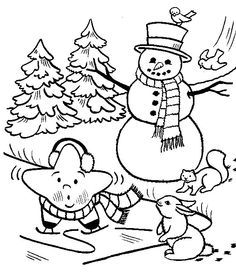 frosty christmas eve coloring page